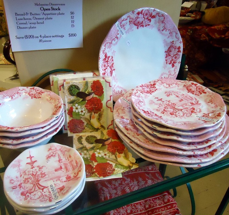 """Not your grandmothers """"Melmac"""" dishes!  New quality melamine by QSquared New York."""