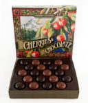 Chocolate covered dried Royal Anne cherries, grown and made in the Willamette Valley make a perfect gift!  20 pc $14.95 has both milk and dark chocolate.